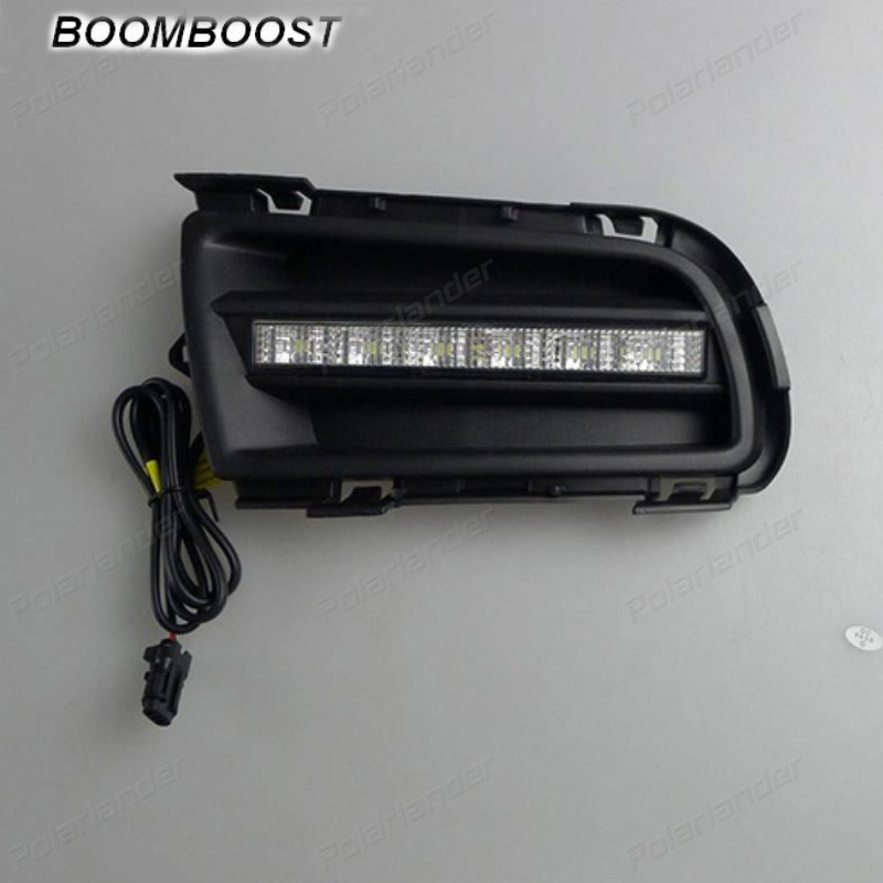 BOOMBOOST 2pcs LED Daytime Running Light For Mazda 6 2004 -2010 ,Car Accessories Waterproof ABS 12V DRL Fog Lamp hot sale abs chromed front behind fog lamp cover 2pcs set car accessories for volkswagen vw tiguan 2010 2011 2012 2013