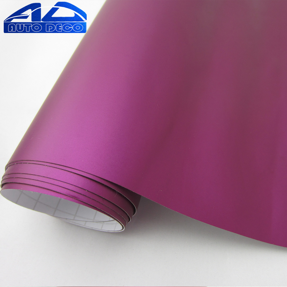 Extremely Stretch Car Matte Chrome Purple Vinyl Film for Car Wrapping Sticker with Air Channel FedEx Free Shipping 20m/roll light purple matte vinyl car wrap film for car decoration sticker with air bubble free fedex free shipping