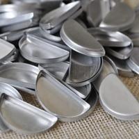 500 Stks Lege Halve Cirkel Tins Make Oogschaduw Aluminium Pannen DIY Druk uw eigen Oogschaduw Poeder 26mm Grootte make tool