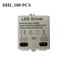 100pcs AC voltage 100-240V power 6W DC 12V Lighting Transformers high quality safe Driver for LED strip 3528 5050 power supply цена 2017