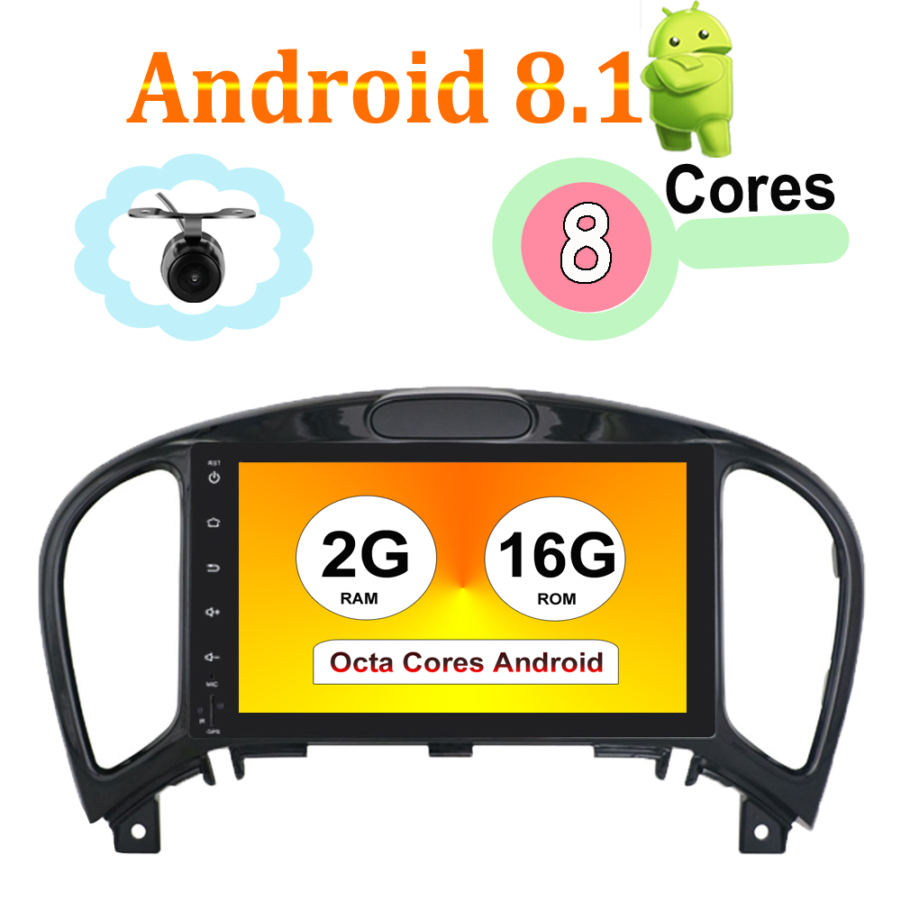 "8 Core 8"" 2 Din Android 8.1 Car Multimedia Player For Nissan JUKE 2004-2016 Car Audio Stereo Radio Car Radio Player Audio Stereo"