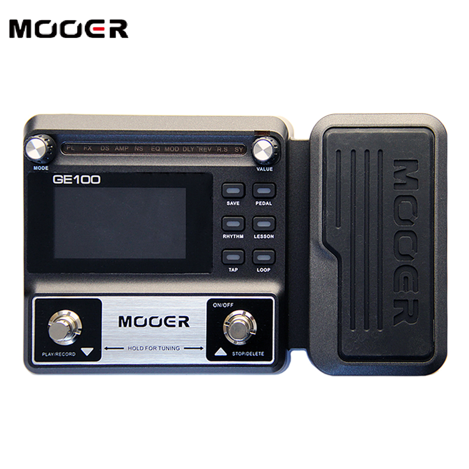 NEW MOOER GE100 Guitar Multi-Effects Processor Large high brightness LCD display pedal Effect pedal new effect pedal mooer solo distortion pedal full metal shell true bypass