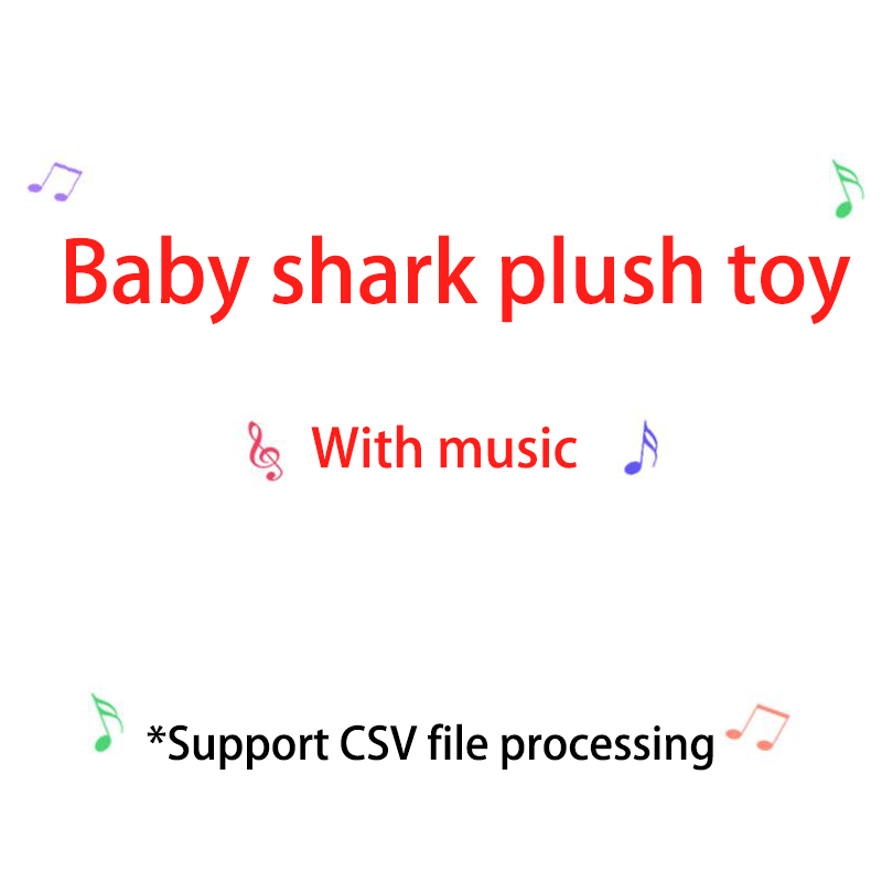 Music Soft Dolls Baby Cartoon Shark Toys Cute Animal Plush Baby Toy Shark Dolls Singing English Song