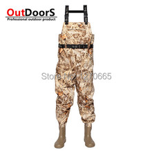 Brand Quality EU respirant  Fishing waders magnum boots Waterproof  Fishing Hunting Camouflage waders botas tacticas militares