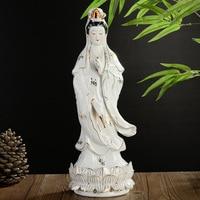 Керамика Гуаньинь статуя Будды Бодхисаттва украшения белый фарфор скульптура офисный декор украшения Avalokitesva Статуэтка