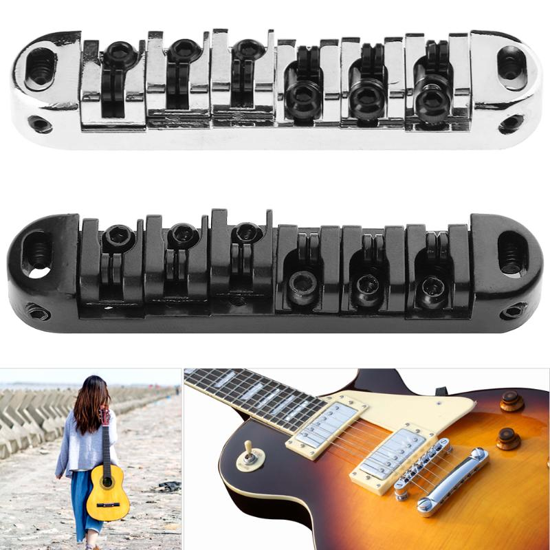 1Set Roller Saddle Tune-O-Matic Bridge w/ 2 Studs for LP Electric Guitar High Quality Guitar Parts Accessories 2 Colors Hot Sale hot sale top quality white lp custom guitar with golden hardware electric guitar free shipping white color