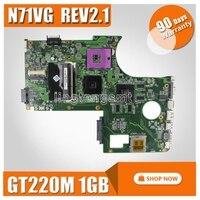 원래 마더 보드 For Asus n71v n71vg 마더 보드 n71vg 메인 보드 rev2.1 gt220m 1 gb 100% 완전 테스트 됨