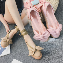 2017 New Fashion Bow Tie With Women Rihanna Sheos Creeper Summer The Latest Fashion Flat Shoes Three Color Options Size 35-40