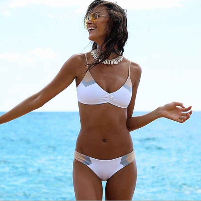 OMKAGI Brand Brazilian Bikini 2019 Swimwear Women Swimsuit Sexy Push Up Bikini Set Swimming Bathing Suit Beachwear Summer