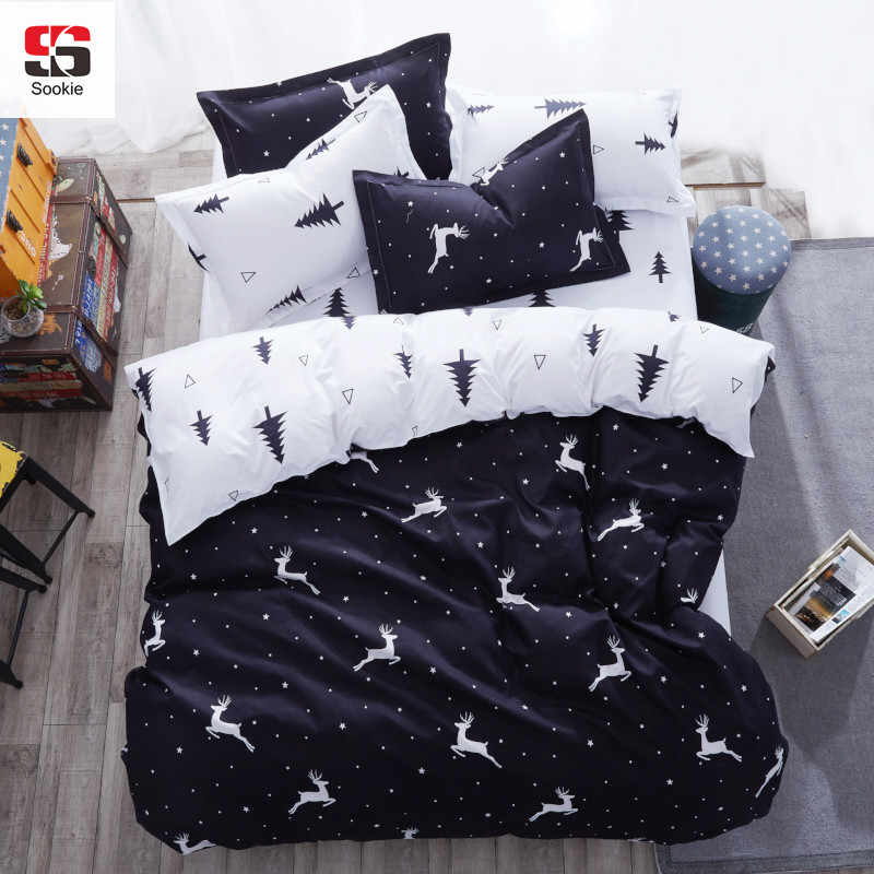 Sookie 3/4pcs King Size Bedding Sets Cartoon Queen Size bed set/bedclothes for kids/bed linen Duvet Cover Bed sheet Pillowcase