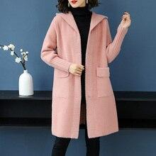 3XL Брендовое женское длинное шерстяное пальто осень-зима Новое плотное теплое пальто с капюшоном однотонное повседневное дикое Женское пальто