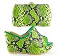 green New Coming African Sandals Italian Shoes and Bags To Match Shoes with Bag Set Italian Matching Shoes and Bags Sets!MHY1-17