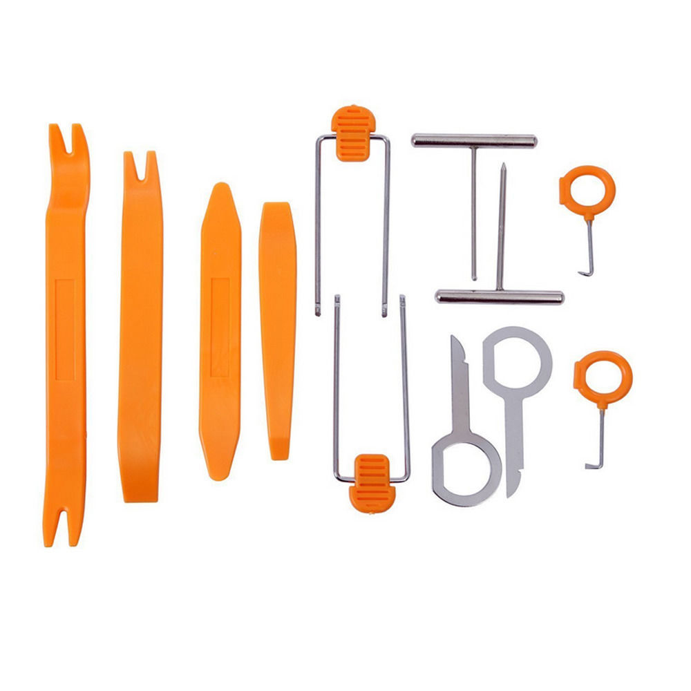 uxcell 4Pcs Plastic Car Panel Audio Installer Pry Dismantle Removal Tool w Guide Line