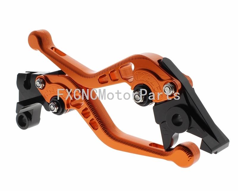 все цены на Orange 3D Short Pair CNC Motorcycle Brake Clutch Lever For Honda CBR 600 F F2 F3 F4 F4i 900RR