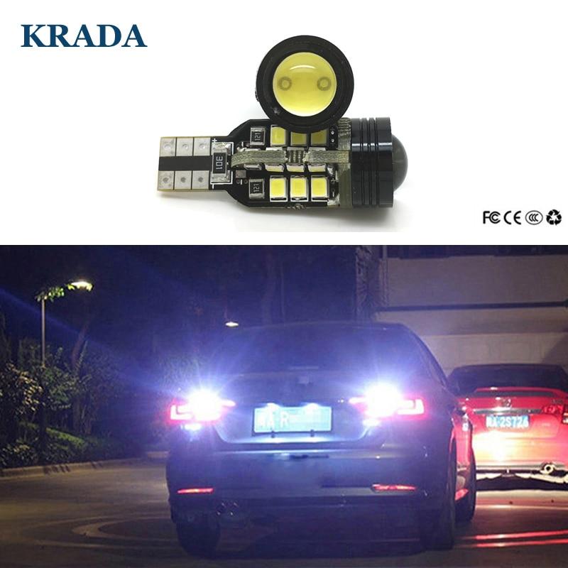 KRADA 2pcs Car T15 W16W Reverse Led Auto Canbus White Led Lights Bulb Lamp High Power 12V For Volkswagen VW Passat B7 B5 B6 Golf