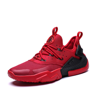 2018 Ultra light Sole Running Shoes Men Outdoor Sport Shoes for Man White Athletic Laces Light Running Shoes for Male Black Red