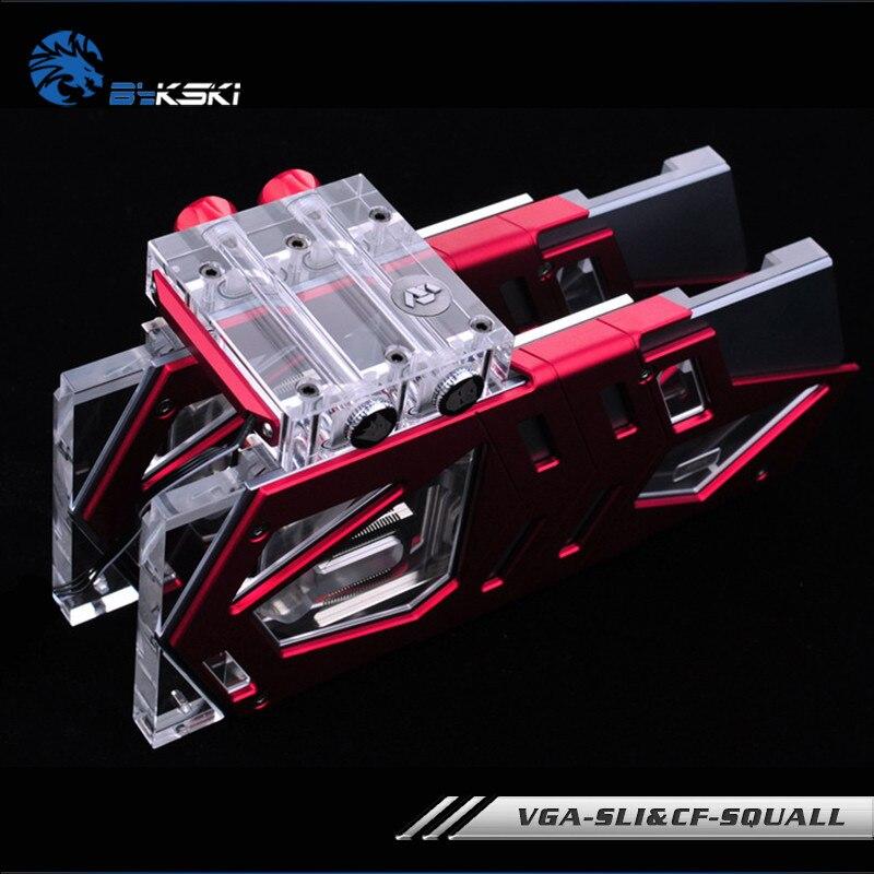Bykski VGA-SLI&CF-SQUALL SLI/CF Multi-card bridge module acrylic box head For Graphics card
