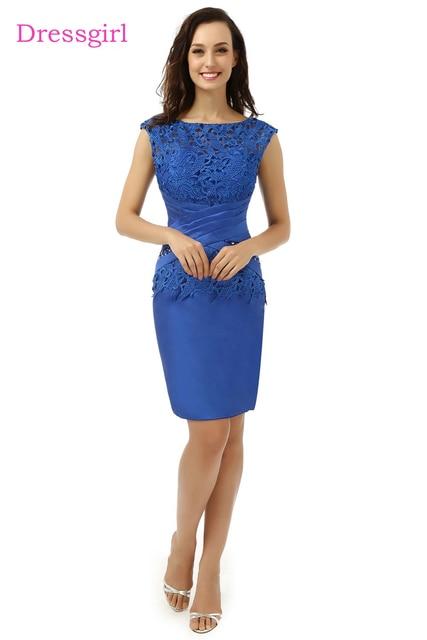 Royal Blue Plus Size 2018 Mother Of The Bride Dresses Sheath Knee ...