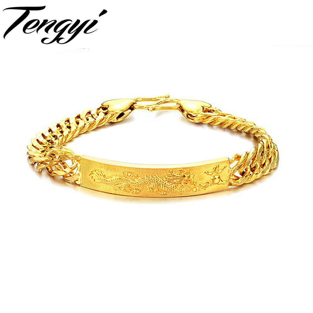 fashion id bracelet tengyi new arrival gold color id bracelets for 1074