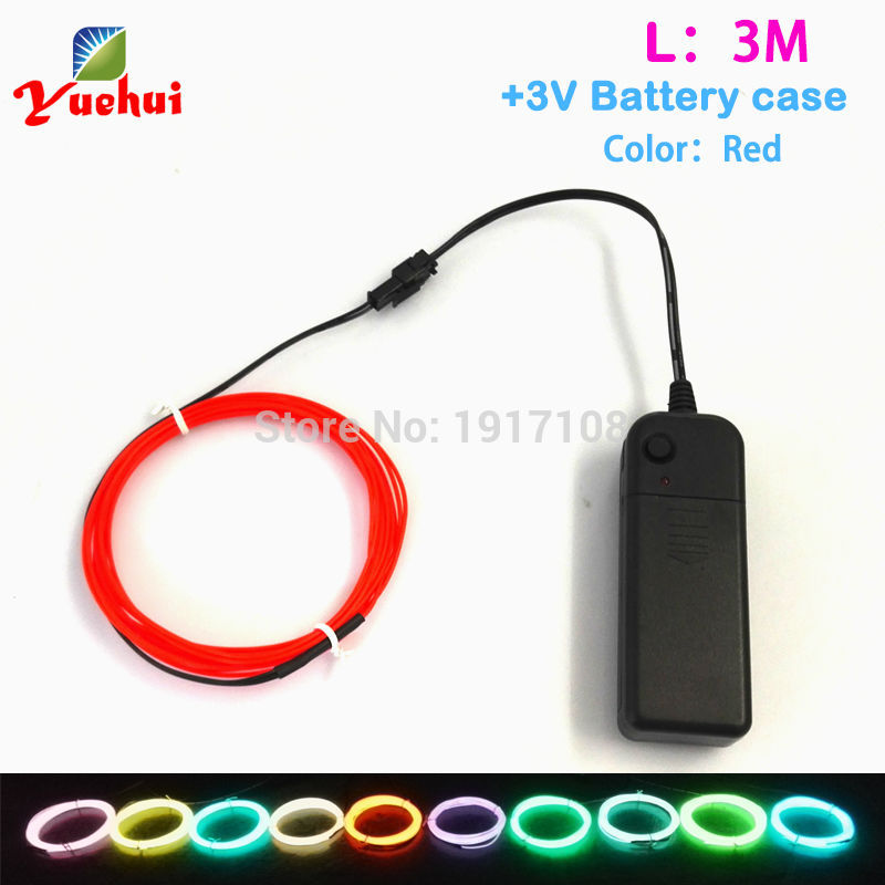 DC12V EL Inverter With Flexible For 3 Meters EL Wire Rope Tube Neon ...