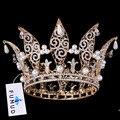 2016 Nova Nupcial de Cristal Rhinestone Pageant Coroas Tiaras de Noiva Acessórios Do Casamento Headpiece Casamento Tiara Tiara Cheia
