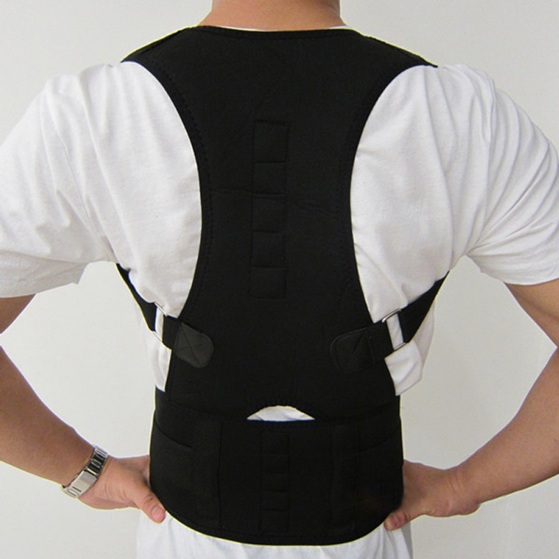 Adjustable Magnetic Posture Corrector Corset Back Male Female Men Brace Back Belt Lumbar Support Straight Health Care Corsets