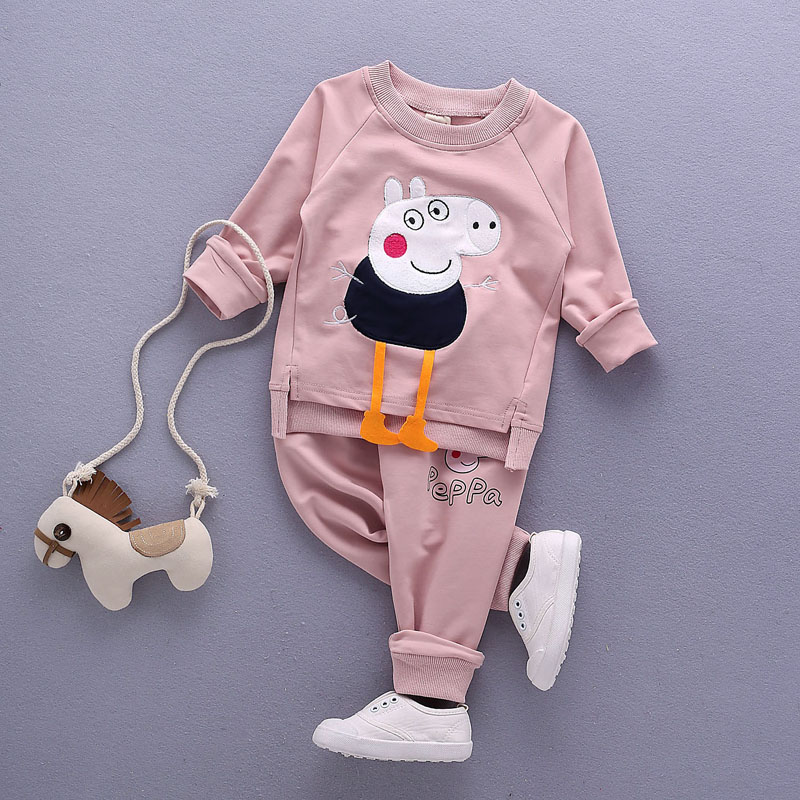 baby boys Girls clothing set Children spring autumn coat + pants kids clothes (2)