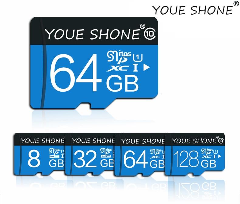 Micro sd карта 8 ГБ 16 ГБ 32 ГБ 64 Гб 128 г карта памяти для смартфонов класс 10 microsd sdhc sdxc
