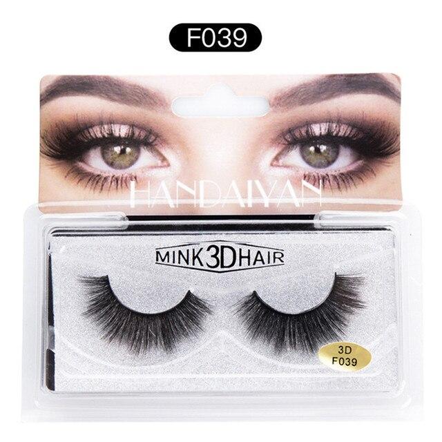 Makeup 3D Natural Long Fake Eye Lashes Handmade Thick False Eyelashes Black Natural Long Crisscross False Eyelashes Synthetic
