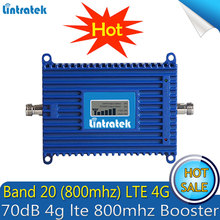 Lintratek Repetidor LTE FDD, 800Mhz (Banda 20), amplificador de señal 4G, 70dB, teléfono móvil, 4g lte, 800mhz, Repetidor de señal amplificador