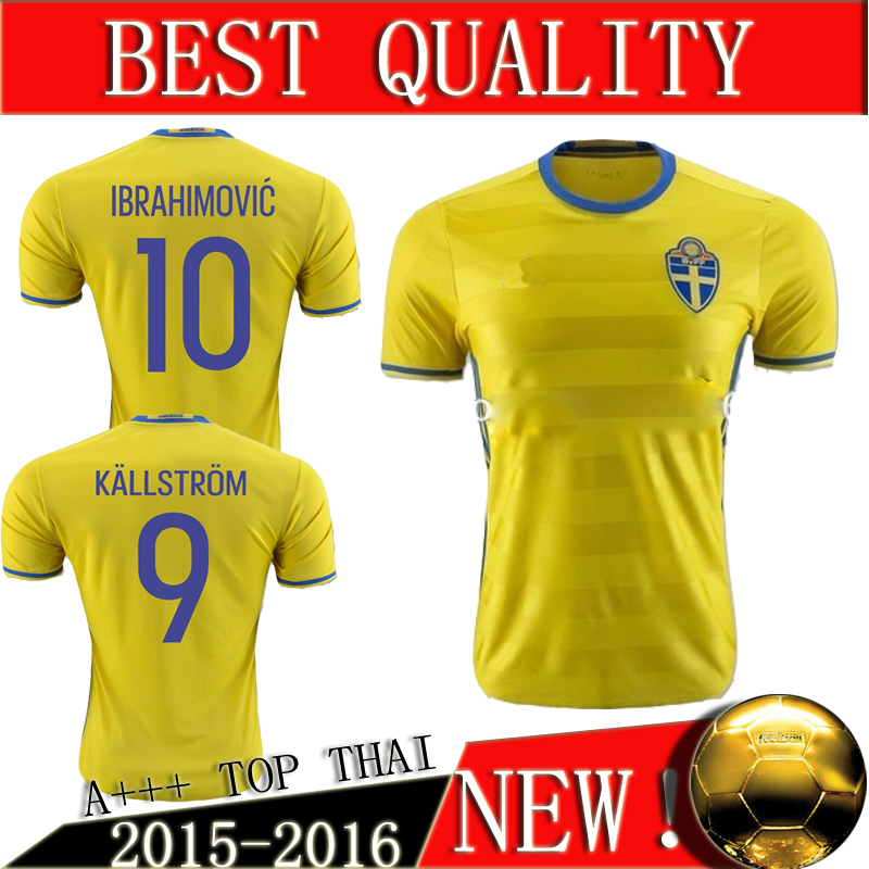 4cdc5ecb3 ... sweden soccer jersey 2016 2017 sweden national home football shirt top  thailand quality ibrahimovic