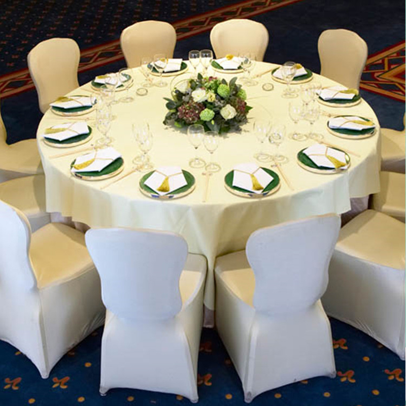 1lot 100 Pcs Universal Stretch Polyester Spandex Wedding Party Chair Covers For Weddings Banquet Hotel Decoration Decor In Cover From Home Garden On