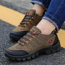 Для мужчин дышащая рабочая обувь 2018 лето-осень нескользящая подошва устойчивостью путешествия обувь открытый мужской обуви Рыбалка кроссовки для Для мужчин