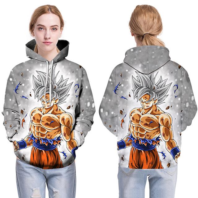 Dragon Ball Z Print Hoodies