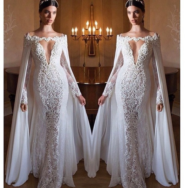Sexy Mermaid Wedding Dresses 2015 Off the Shoulder Wedding Gowns ...