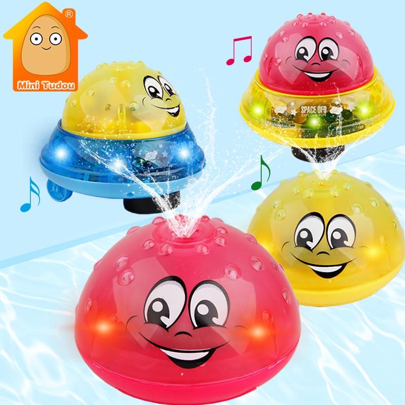 Игрушки для ванной спрей свет воды вращается с душевым бассейном детские игрушки для детей малышей плавание вечерние ванная комната светод...