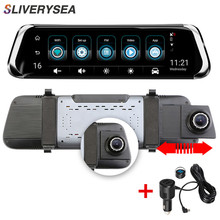 SLIVERYSEA Car DVR 10IPS Touch 4G Mirror Android ADAS GPS FHD 1080P WIFI Auto Registrar Rear View Camera Dash Cam