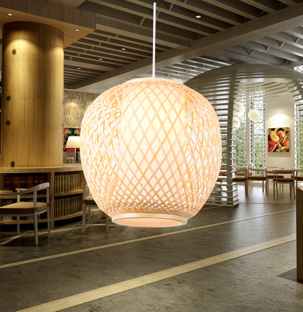 Classical rustic hand knitting bamboo art Pendant Lights Modern vintage E27 LED lamp for porch&parlor&stairs&corridor LHDD027 southeast asia style hand knitting bamboo art pendant lights modern rural e27 led lamp for porch