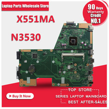 Hot selling F551MA X551MA D550M motherboard for Asus X551MA REV2.0 USB3.0 HD Graphics Mainboard DDR3 Processor N3530 100% tested