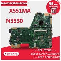 Vendita caldo F551MA X551MA D550M scheda madre per Asus X551MA N3530 REV2.0 USB3.0 HD Graphics Processore Scheda Madre DDR3 testati al 100%