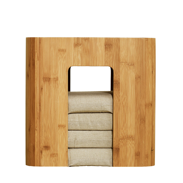 ZEN'S BAMBOO Stool Muti Function Tea Table With 4 Cushion Coffee Table Tatami Changing Stool Living Room Funiture