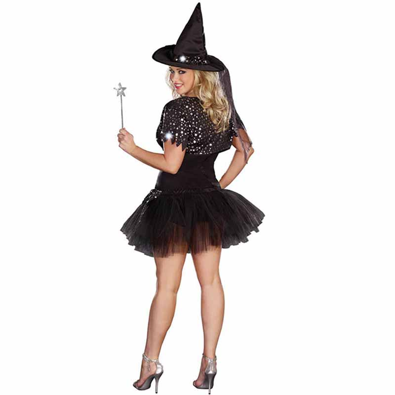 Halloween Sexy Witch Costumes Adult Clothes Sex Women Queen Carnival Party Cosplay Fancy Dress (2)