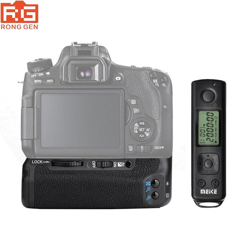 bilder für Meike MK-760D Eingebaute 2,4G LCD-Display Drahtlose Fernbedienung Pro Batteriegriff für Canon 750D 760D Rebel T6i T6s als BG-E18