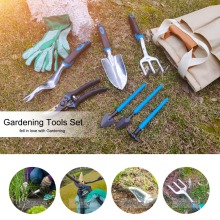 Prostormer 10 PCS Garden Tool And Bonsai Shovel Tools Set Garden Scissors With Gloves Gardening Gifts With Trowel Pruners