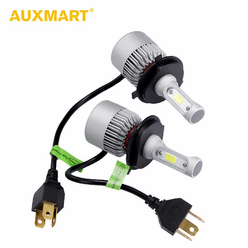 AUXMART 2x 9007 9004 H13 H4 Hi-Lo Beam LED Headlight Car Bulbs 72W 6500K COB 9012 9005 9006 H1 Led H7 Head Bulb H3 H11 Car lamps