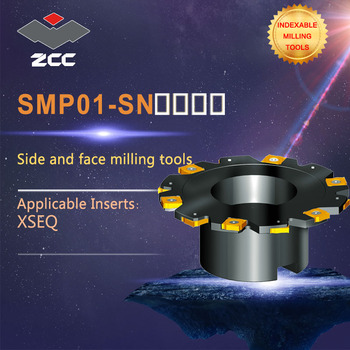 ZCC.CT Side and face milling cutters SMP01 -SN  high performance CNC lathe tools indexable milling tools popular cnc lathe machining center indexable square shoulder milling tools holder with high precision pe05 17b32 100 08