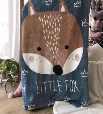 Soft Fleece Baby Blanket Swaddle Two Layer Rabbit Fox Bear Puppy Cartoon Thick Baby Blankets Newborn Warm Kids Swaddle Bedding zhh warm soft fleece strip blankets double layer thick plush throw on sofa bed plane plaids solid bedspreads home textile 1pc