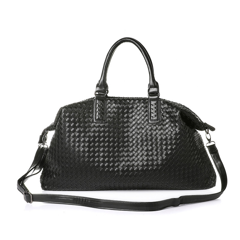 2018 New Cross section Large-capacity Three-use Ladies Tote New Fashion handbag Shoulder Weave PU Leather Handbags Clutch S