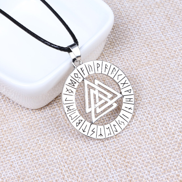 Online Shop Odin Rune Symbol The Valknut Viking Death Knot Nordic