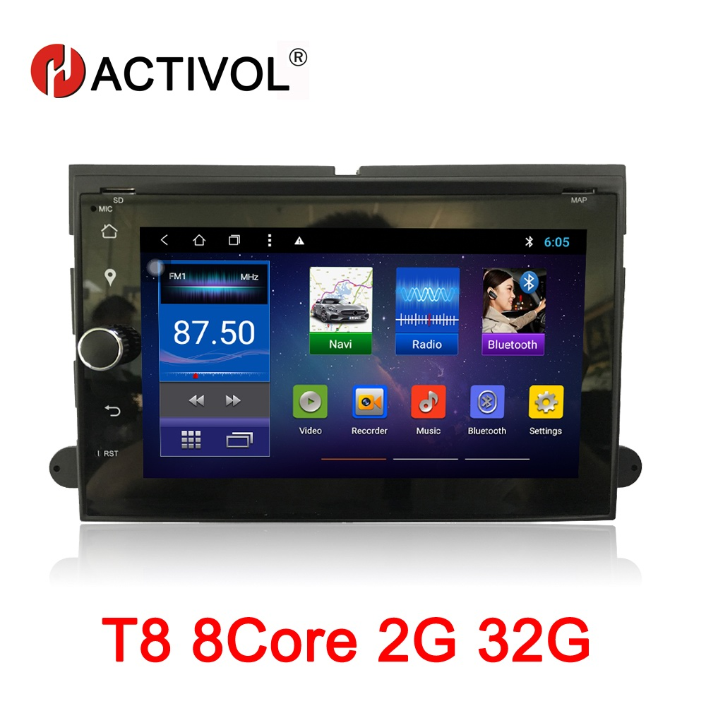 HACTIVOL 7 Octa Core 2G RAM 32G Car radio for Ford F150 F350 F450 F550 F250 Fusion Expedition Edge Android 8.1 car dvd player 5c3z9d930a for ford diesel powerstroke excursion f250 f350 f450 f550 250 350 450 550 f v8 6 0l fuel injector ficm wiring harness